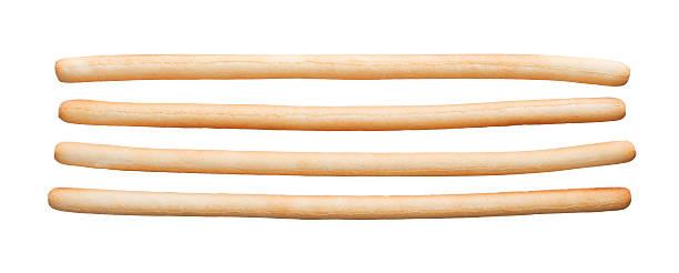 Bread sticks isolated stock photo