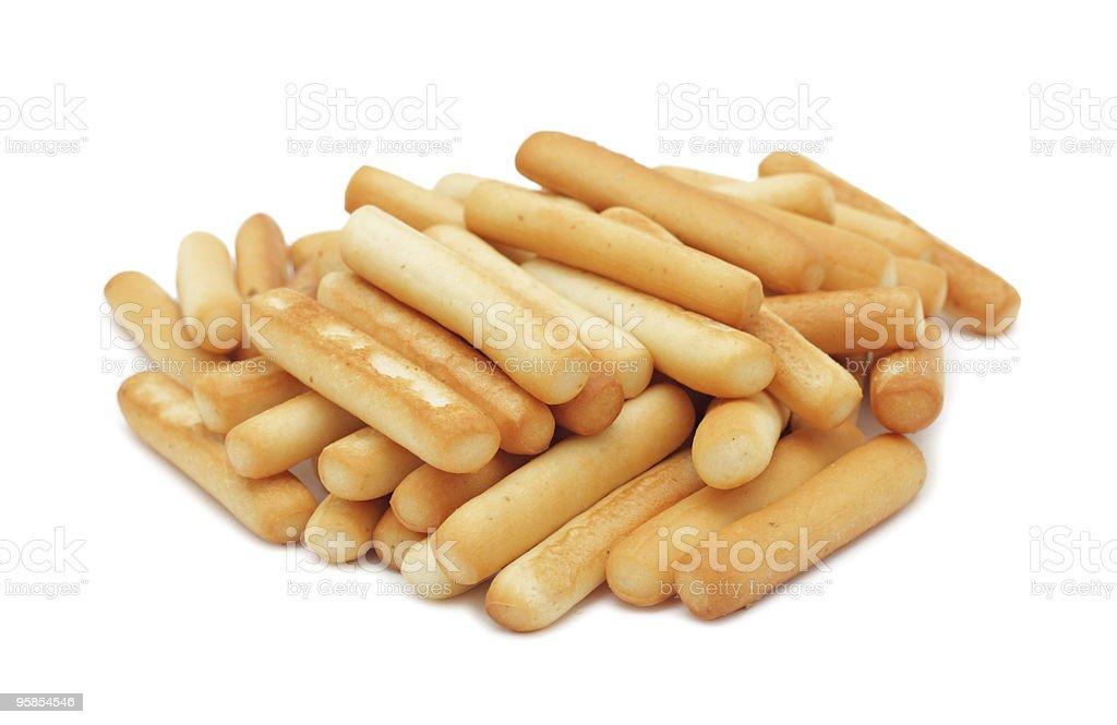 Bread sticks, isolated stock photo