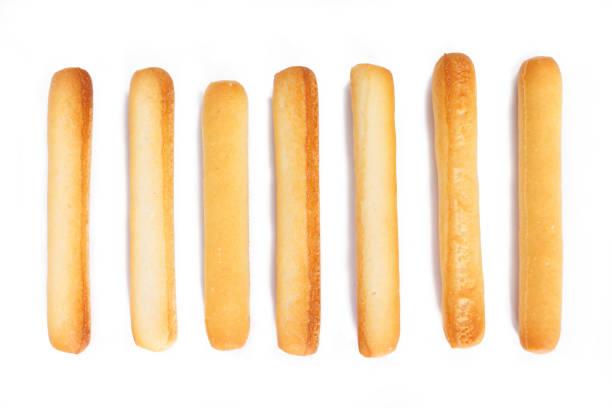 pão varas em fundo branco. - palitinho - fotografias e filmes do acervo