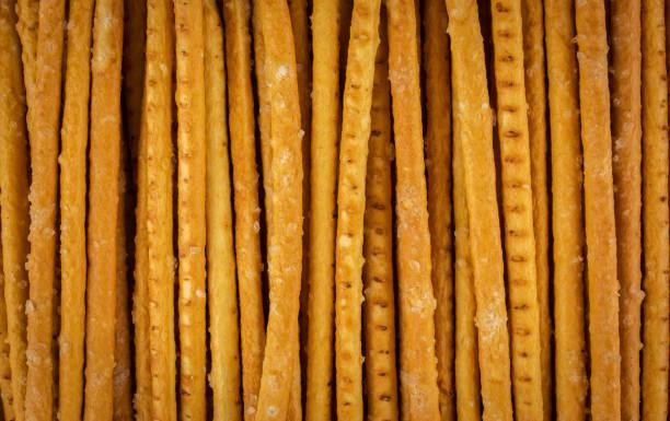 Bread straws. Bread sticks close-up. stock photo