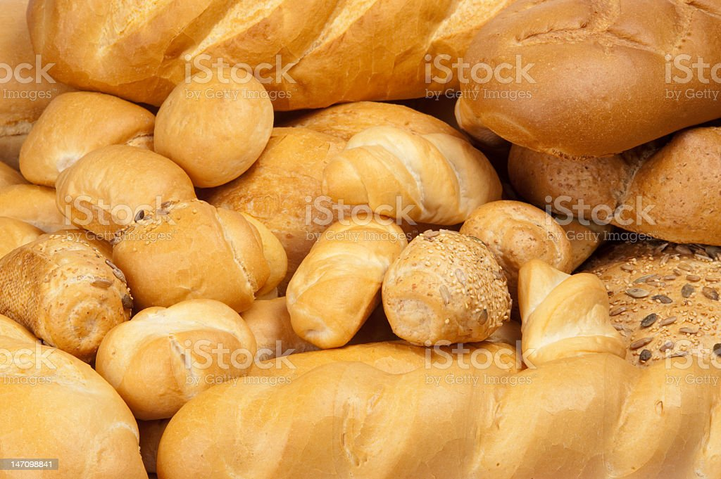 Bread texture - different kind of bread royalty-free stock photo