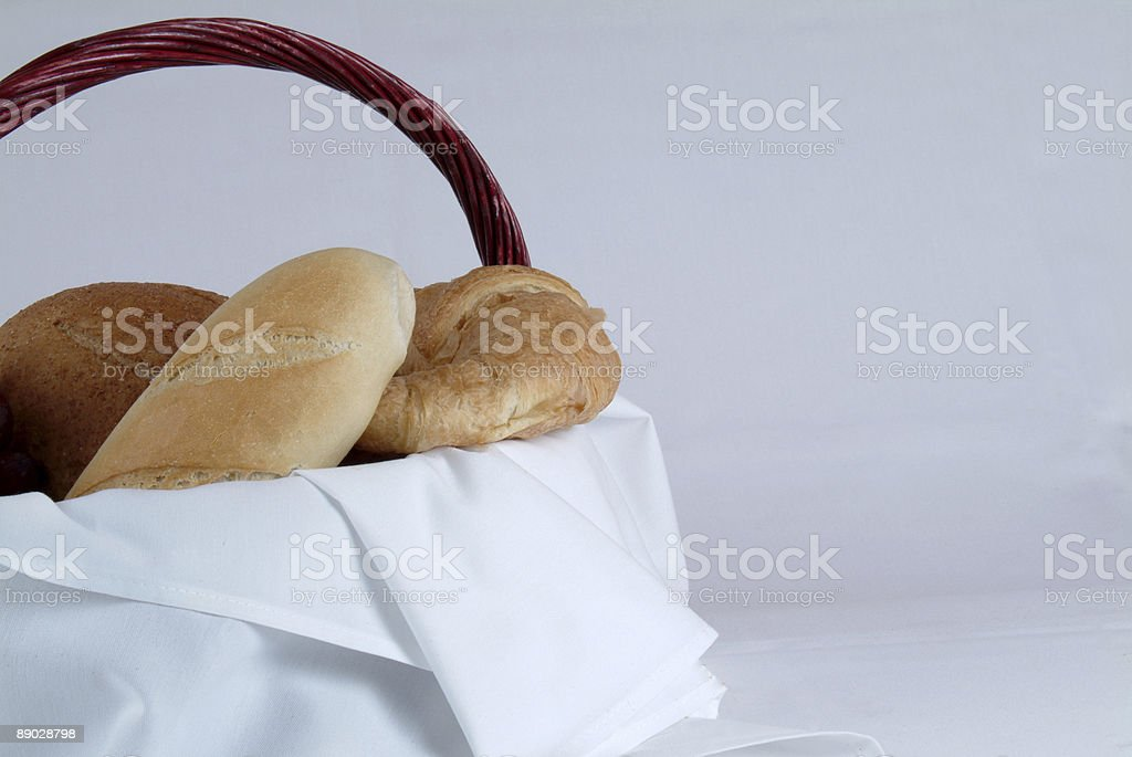 Bread to the left royalty-free stock photo