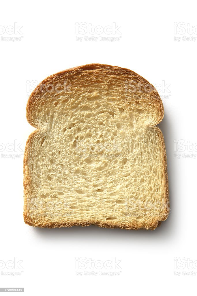 Bread: Toast Isolated on White Background royalty-free stock photo