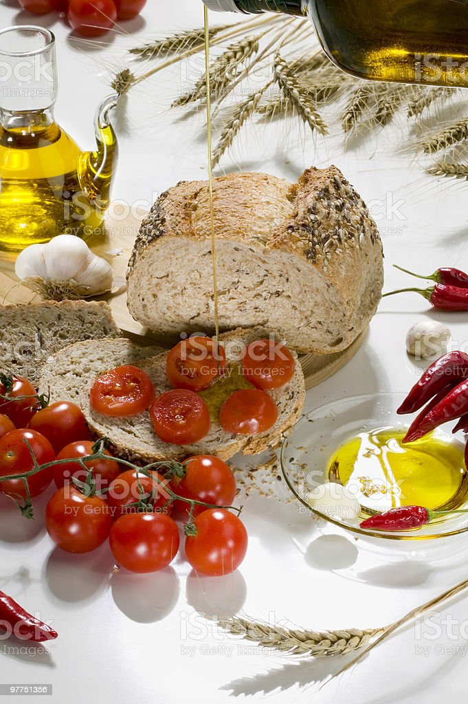 Bread & tomato. royalty-free stock photo