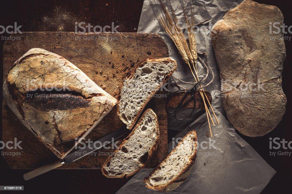 Bread Top View stock photo