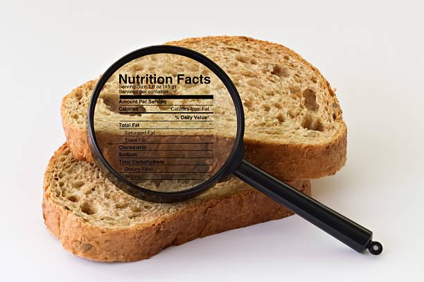 Bread under a magnifier - foto de stock