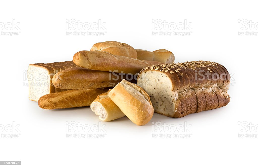 Bread w/Clipping Path royalty-free stock photo