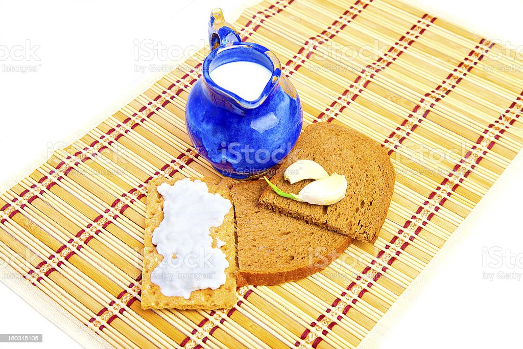 Bread with garlic and crispy royalty-free stock photo