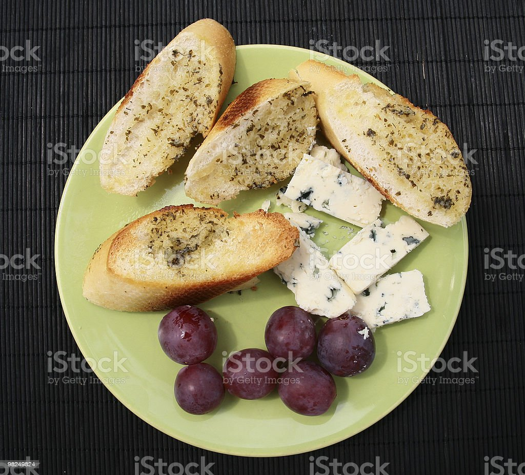 bread with garlic royalty-free stock photo