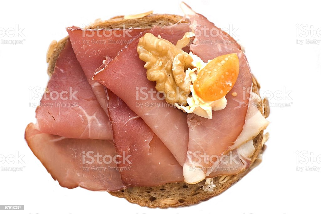 Bread with Ham royalty-free stock photo