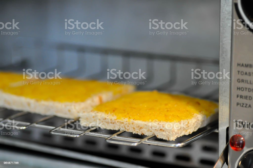 bread with margarine or butter topping royalty-free stock photo