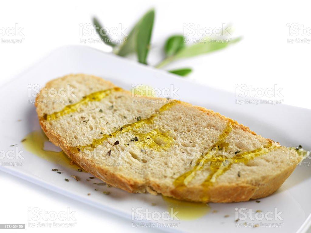 Pão com azeite de oliva e orégano - foto de acervo