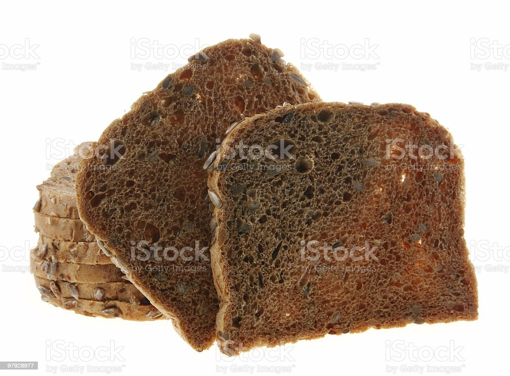 Bread with seed on white royalty-free stock photo