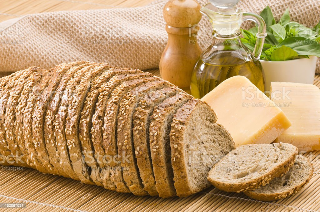 Bread with Sesame royalty-free stock photo