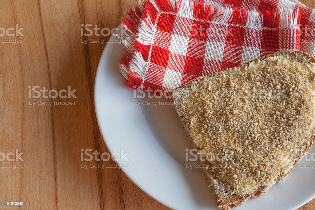 bread with styrian cheese stock photo