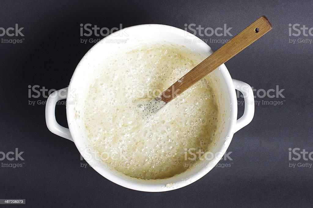 Bread yeast stock photo
