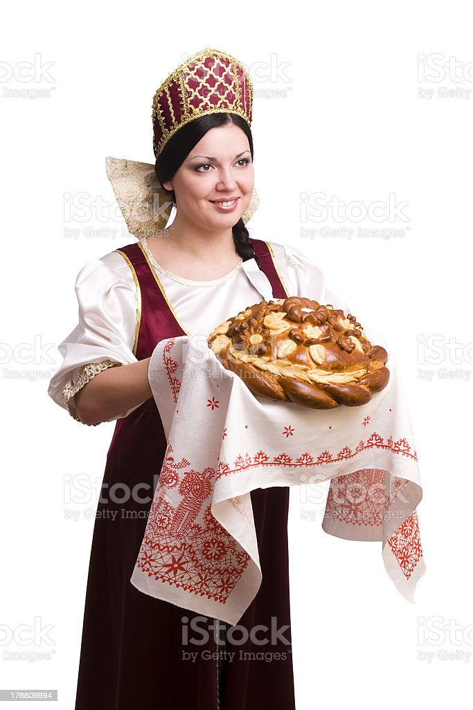 Bread-and-salt welcome royalty-free stock photo