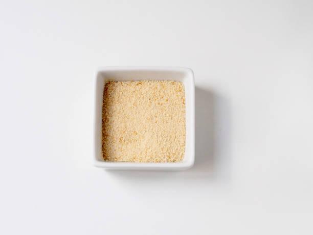 Breadcrumb in a white recipe stock photo
