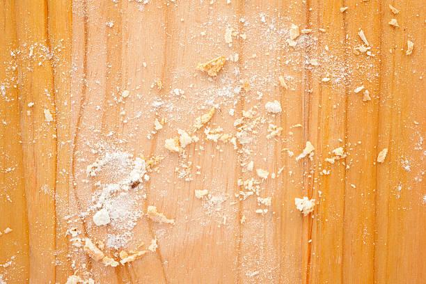Breadcrumbs and flour stock photo