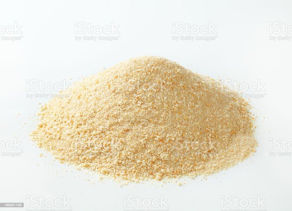 breadcrumbs heap stock photo