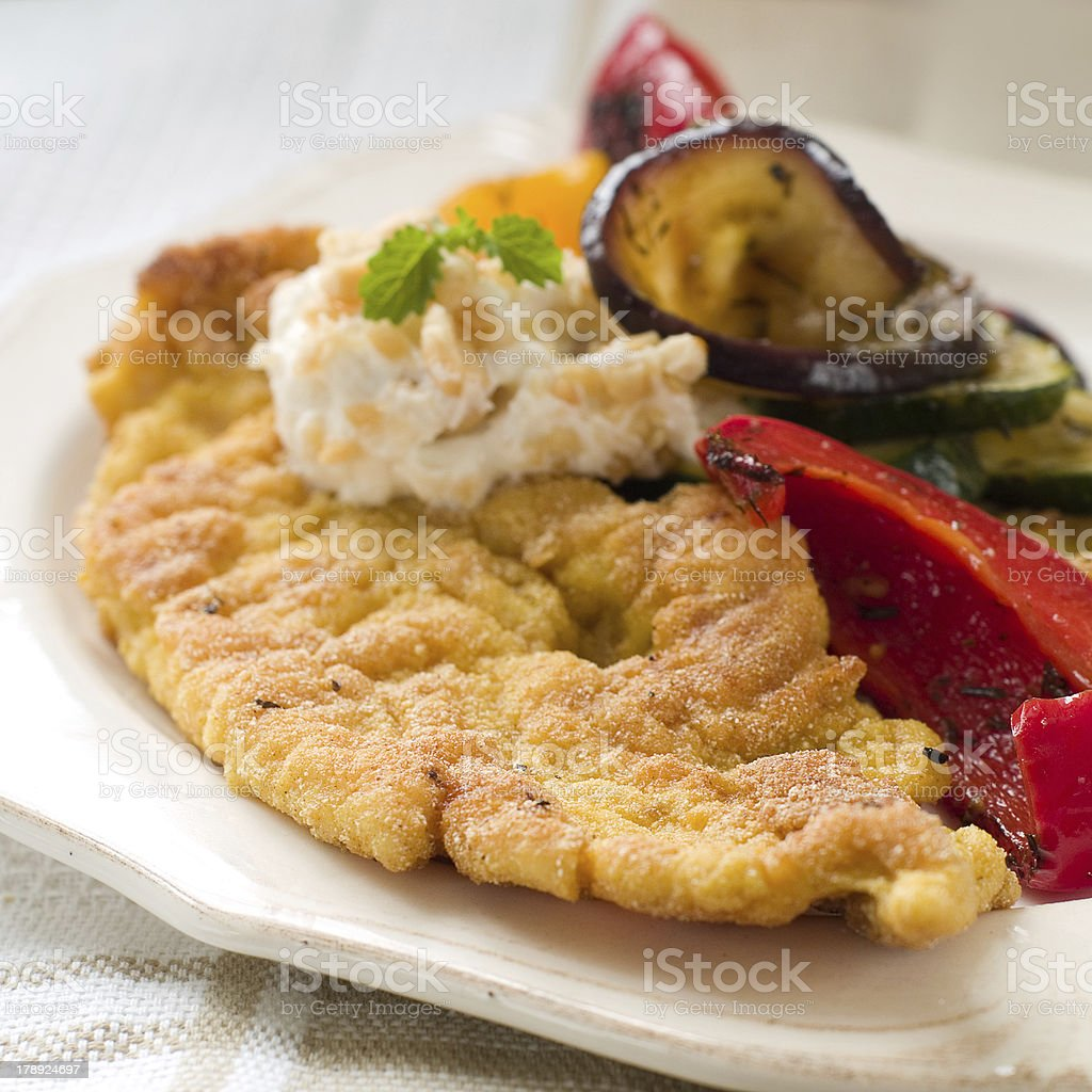 Breaded meat royalty-free stock photo