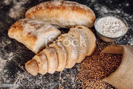 Breads and grains on the table