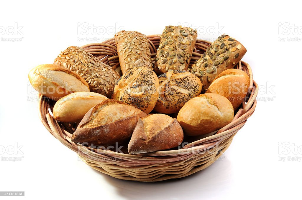 Breads in a basket royalty-free stock photo