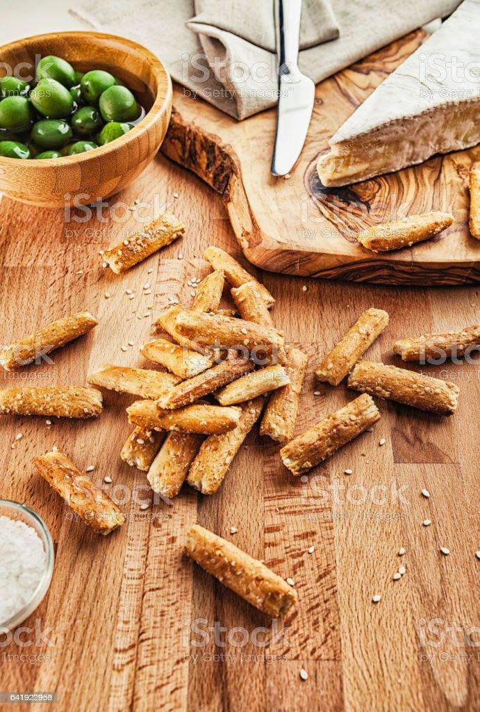 Breadstick snacks stock photo