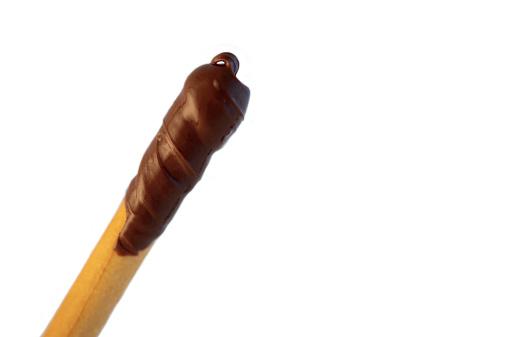 Foto de Breadstick Com Pasta De Chocolate e mais fotos de stock de Amarelo