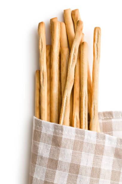 breadsticks grissini stock photo