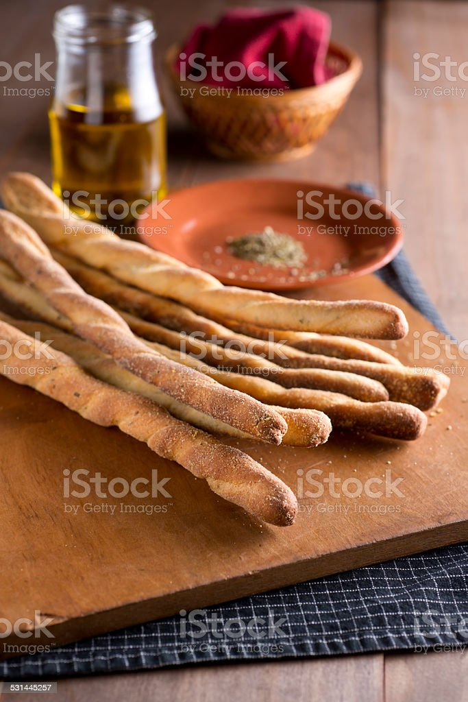 Breadsticks stock photo