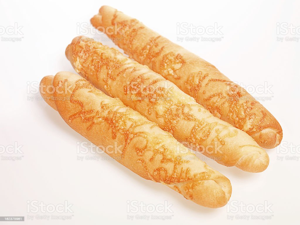 Breadsticks with cheese stock photo