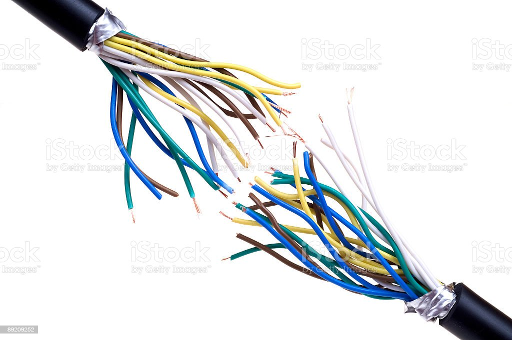 Break cable stock photo
