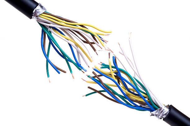 Break cable stock photo