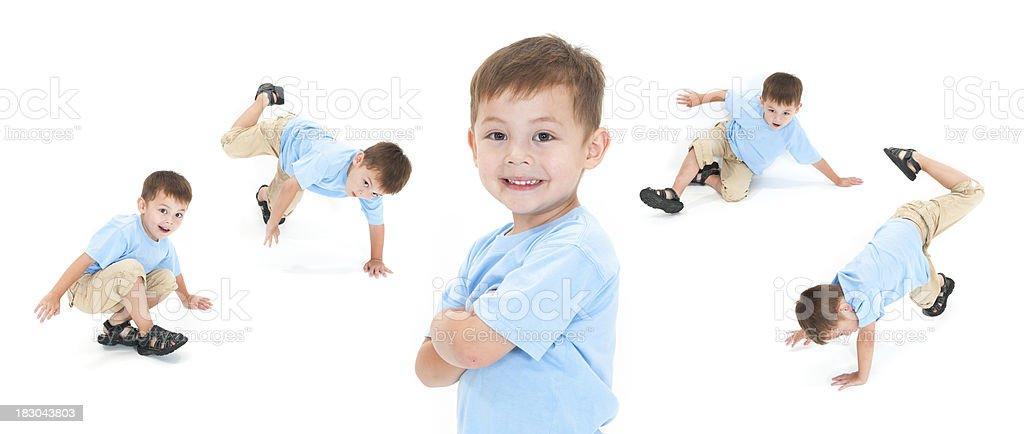 Break Dance menino - foto de acervo