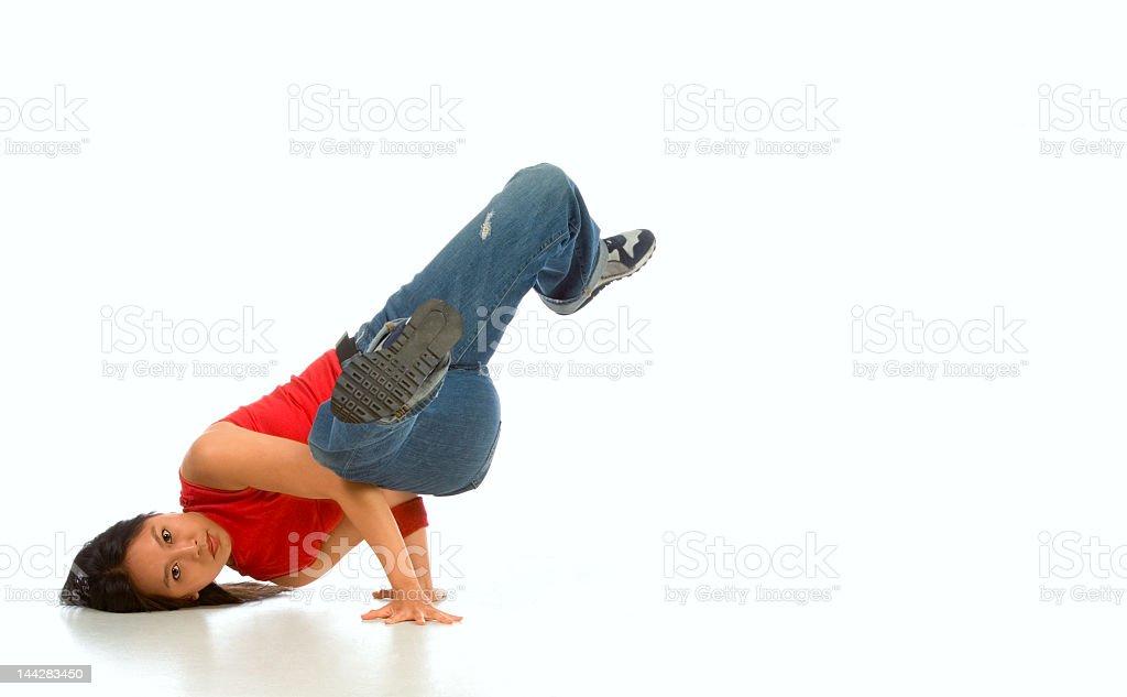 Break dancer #1 stock photo