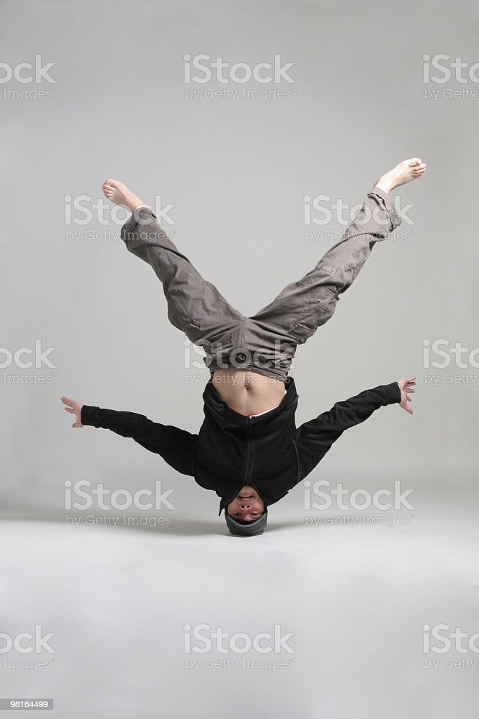 Break dancer royalty-free stock photo