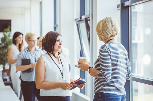 Break During A Women Conference Stock Photo - Download Image Now