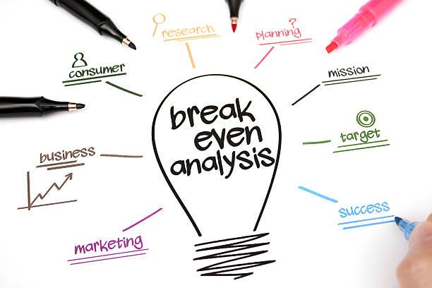 Break even analysis stock photo