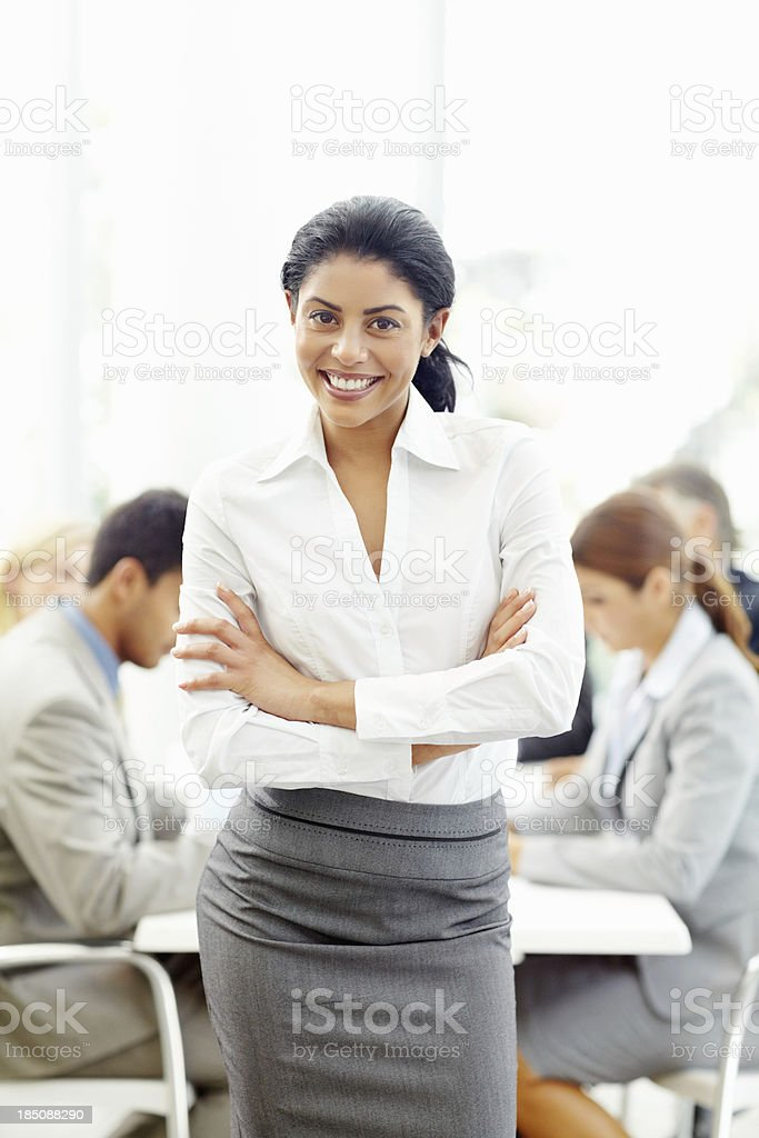 Break from meeting royalty-free stock photo