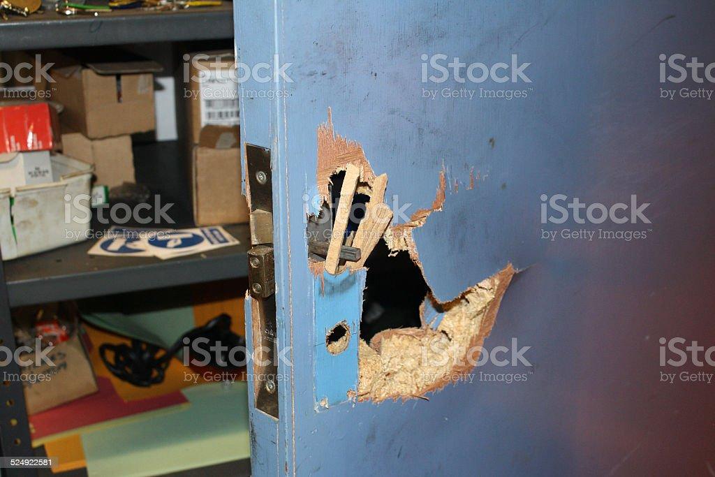 Break In Damage stock photo