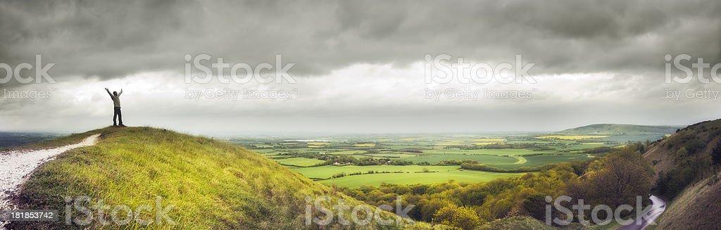 Break in the clouds stock photo