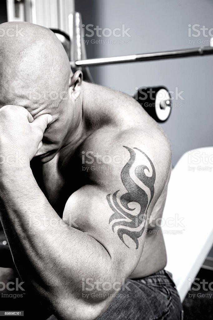 Break in the fitness center royalty-free stock photo