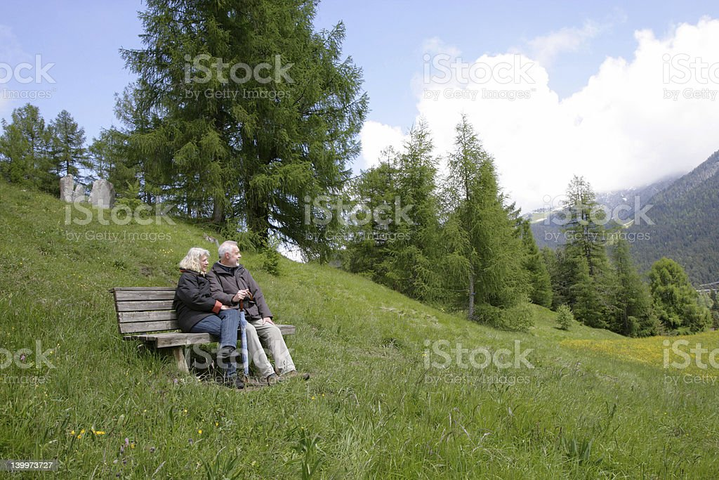 Break in the mountains royalty-free stock photo