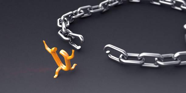 break the chain - anello catena foto e immagini stock