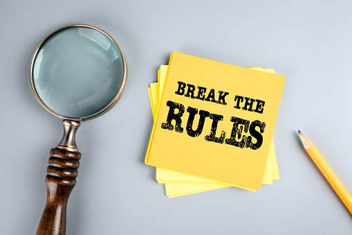 istock Break the rules. Youth, recklessness, ethics and law concept 1192099957