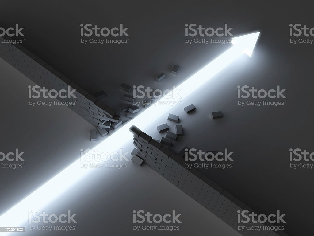 Break Through stock photo