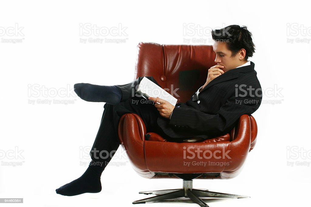 Break Time Read royalty-free stock photo