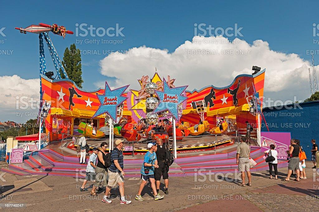 Breakdance amusement ride royalty-free stock photo