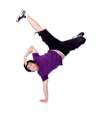 Breakdancing freeze One Handed Handstand